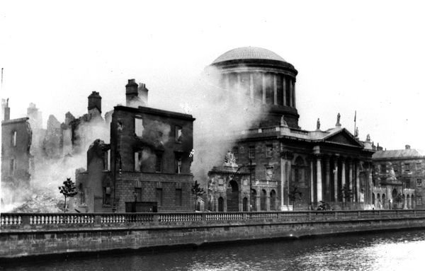 The Four Courts under bombardment, June 1922. Photograph © RT… Cashman Collection.